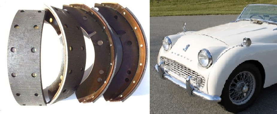 """FRONT or REAR BRAKE SHOES SET (Triumph TR2) (** 10"""" Drums Only **) (1953- 57)"""