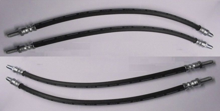 FRONT BRAKE HOSES x4 (Rolls Royce Silver Wraith II) (1976- 79 Only)