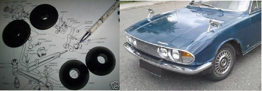 FRONT RADIUS ARM BUSHES KIT x4 (Triumph 2000 & 2.5 Saloon) (1963- 77)
