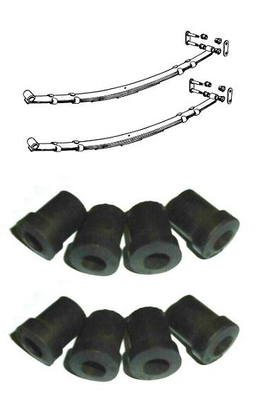 REAR SPRING EYE SHACKLE BUSHES BUSH SET x8 (MGB) (1800 & V8) (1962- 80)