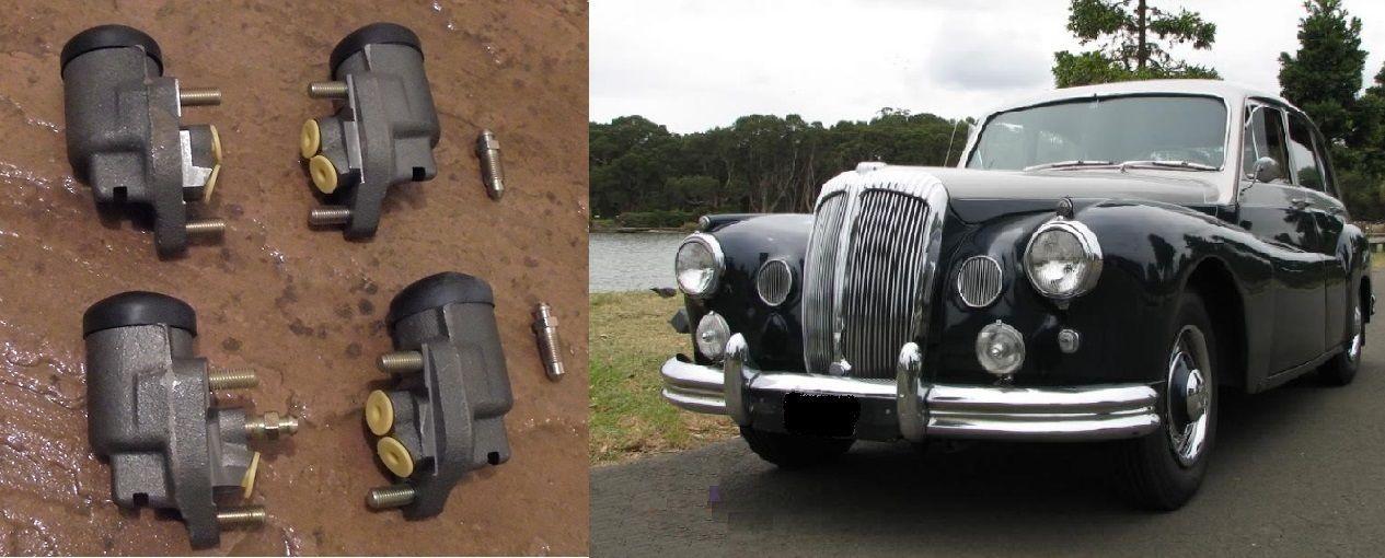 FRONT BRAKE WHEEL CYLINDERS x4 (Daimler DF304 Regency) (** 1953- 54 Only **)
