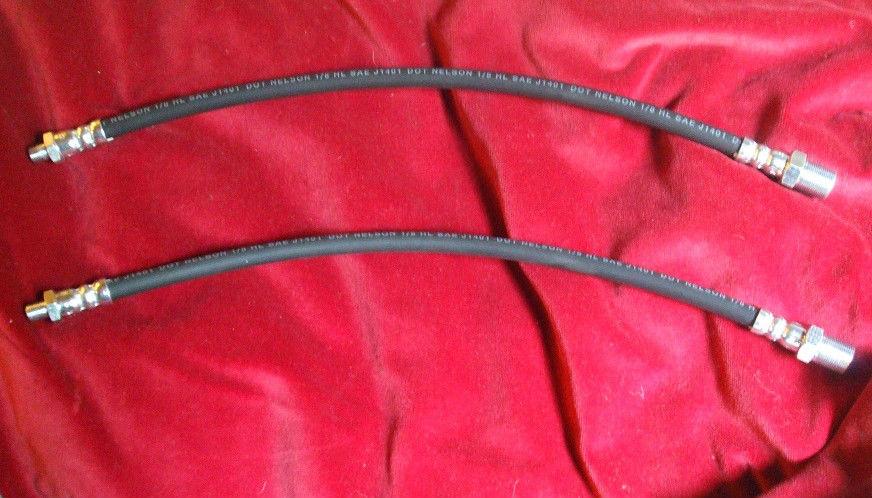FRONT BRAKE HOSES x2 (Citroen Light 12hp & 15) (1938- 56)