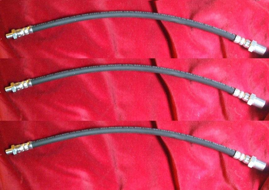 FRONT & REAR BRAKE HOSES x3 (Morris LD LD1 LD01 LD2 LD4 LDM20) (1952- 68)