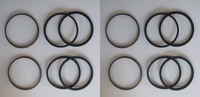 FRONT BRAKE CALIPER REPAIR SEALS KITS x2 (MG B)