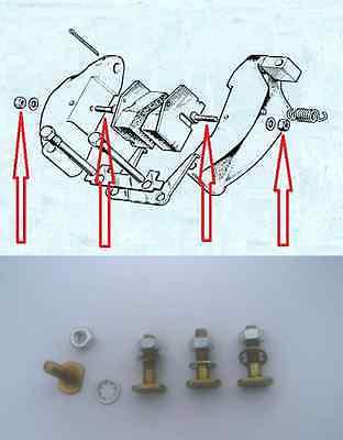 HANDBRAKE PAD FITTING SCREWS BOLTS KIT (Aston Martin DB7) (1994- 04)