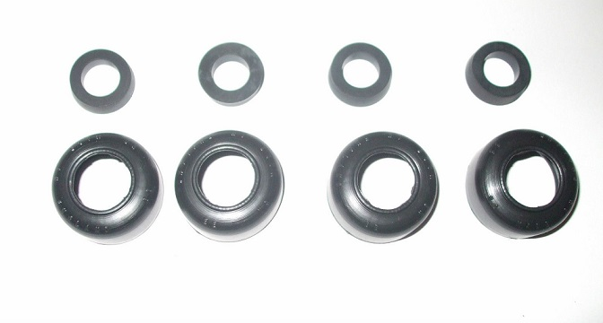 FRONT BRAKE WHEEL CYLINDER REPAIR SEALS KITS x4 (Vauxhall Victor F Type) (Ser I & II) (1957- 61 Only)