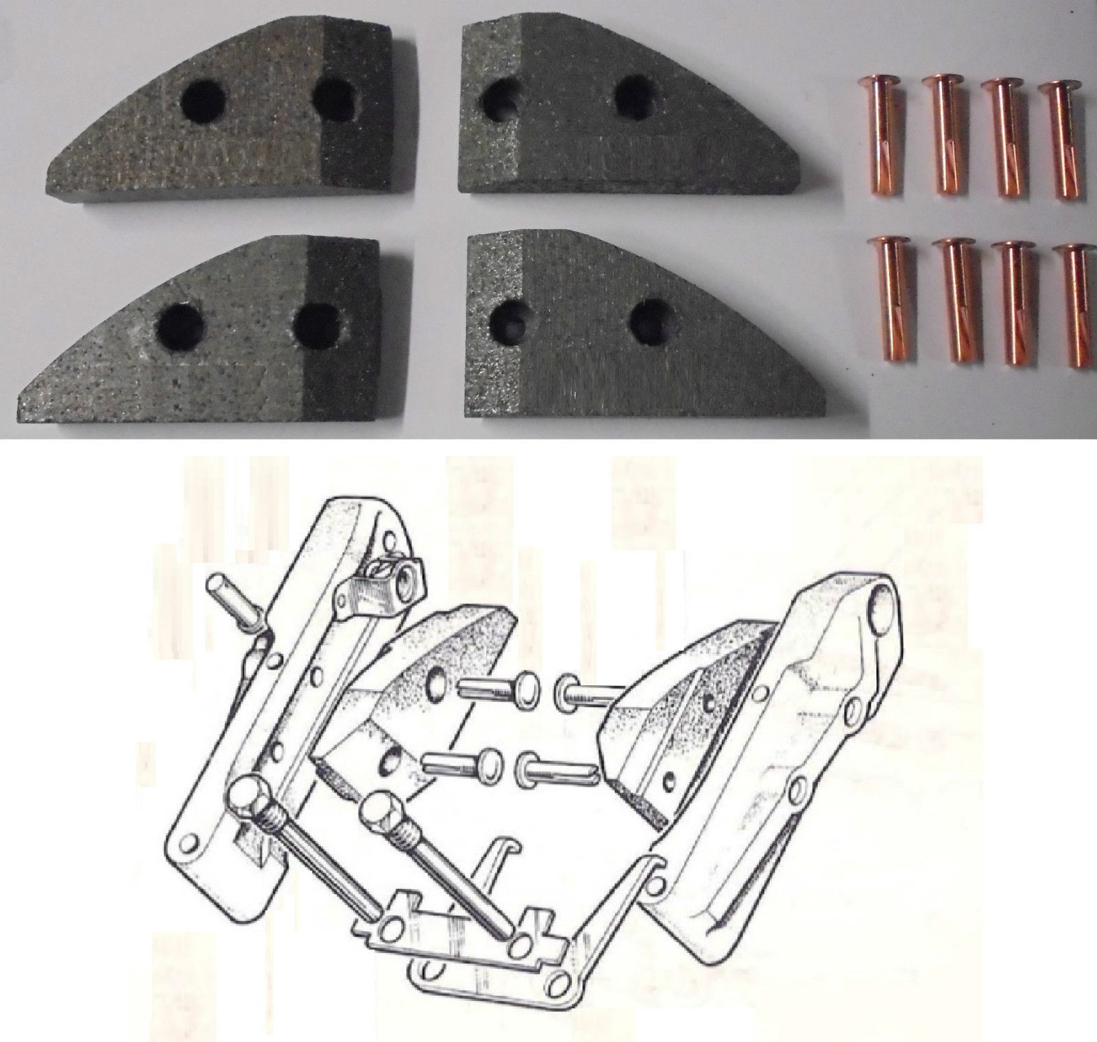 HANDBRAKE PADS (Jaguar Mk1 Saloon) (2.4 & 3.4) (** 1955- 59 Only **)
