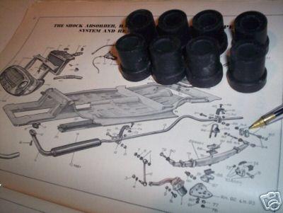 REAR SPRING SHACKLE BUSHES BUSH SET x8 (MG Midget) (1961- 79)