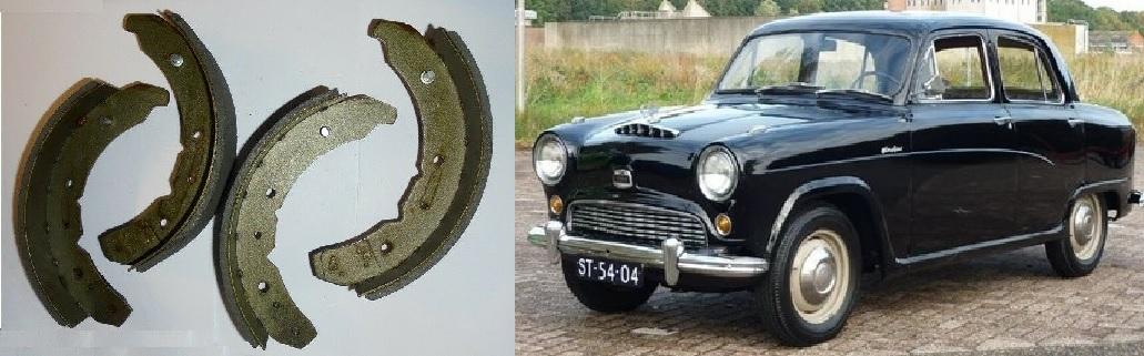 AUSTIN A60 Cambridge      FRONT BRAKE SHOES SET 1961-71