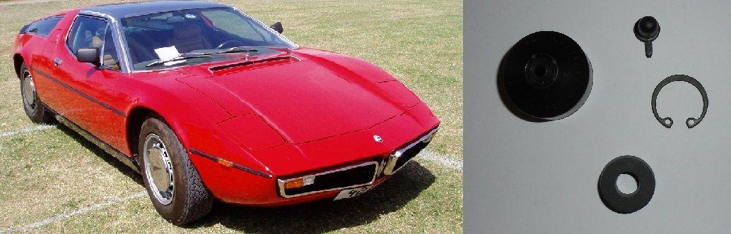 CLUTCH SLAVE CYLINDER REPAIR SEALS KIT (Maserati Bora 117) (1971- 78)