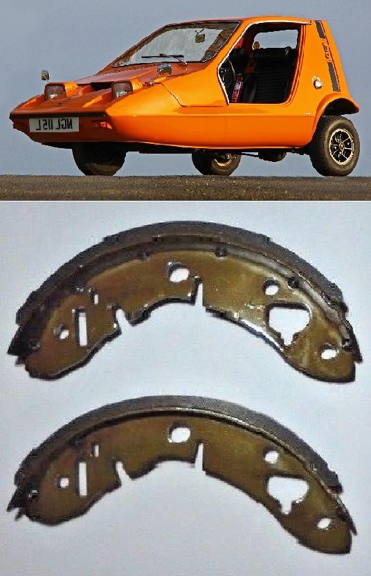 FRONT BRAKE SHOES SET x2 (Bond Bug) (1970- 74)