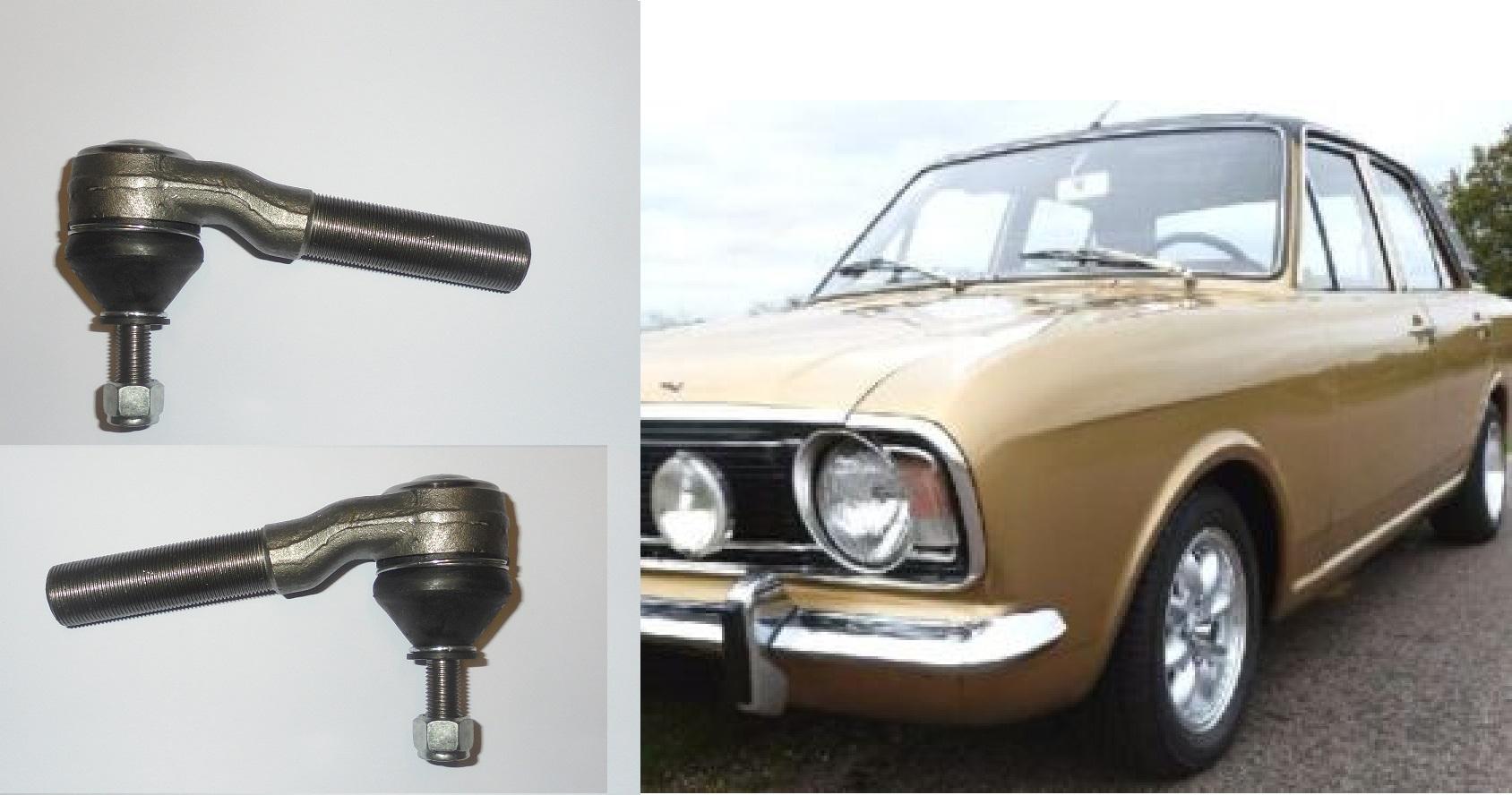 TRACK ROD ENDS x2 (Ford Cortina Mk2 & 1600e) (1966- 70)