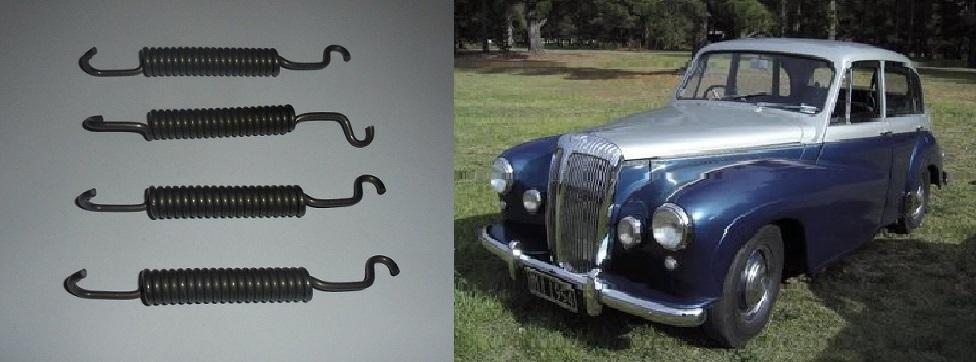 FRONT BRAKE SHOE SPRINGS x4 (Daimler Century) (DJ252, DJ254, DJ256 & DJ260) (1954- 57)