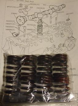 ENGINE VALVE SPRINGS x8 (Triumph TR7) (1975- 81)