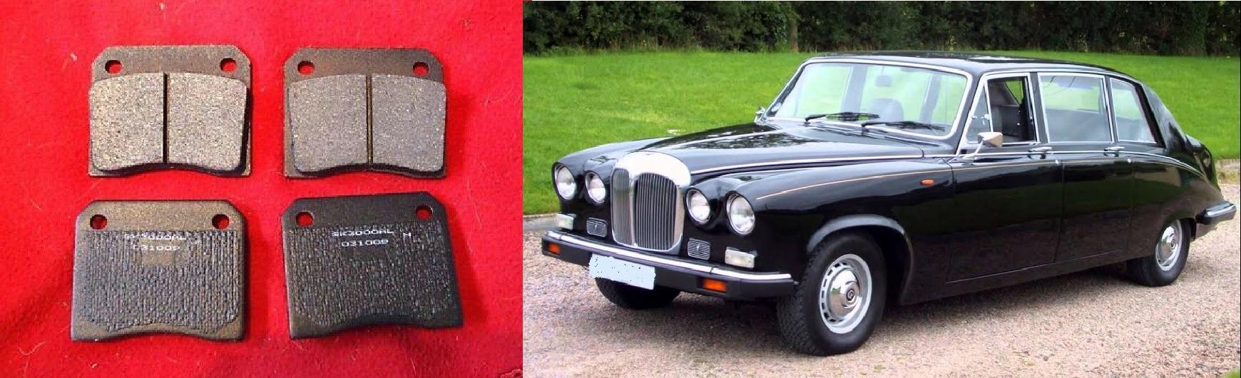 REAR BRAKE PADS SET (Daimler DS420 Limousine) (Sep 1975- 92)