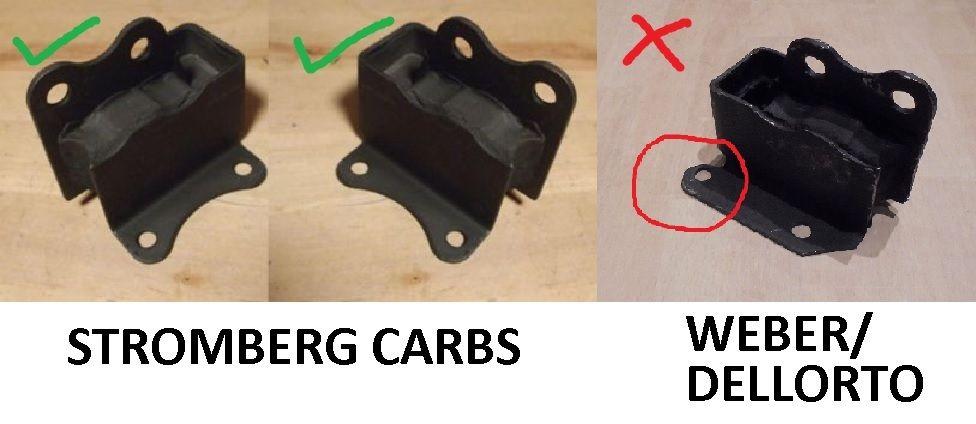 FRONT ENGINE MOUNTS x2 (Lotus Elan) (** Stromberg Carbs **) (1962- 74)