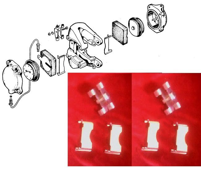 (FRONT or REAR) BRAKE PAD FITTING KIT (Jaguar MkX 3.8) (** See Chassis Numbers **)
