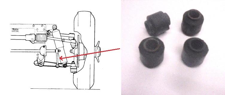 FRONT ANTI ROLL BAR DROP LINK BUSHES x4 (Jaguar E Type) (Ser.1,2,3) (1961- 74)