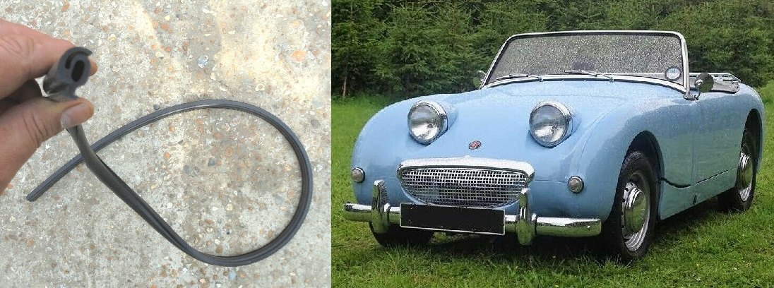 WINDSCREEN FRAME RUBBER BASE SEAL (Austin Healey Frogeye Sprite) (1958- 61)