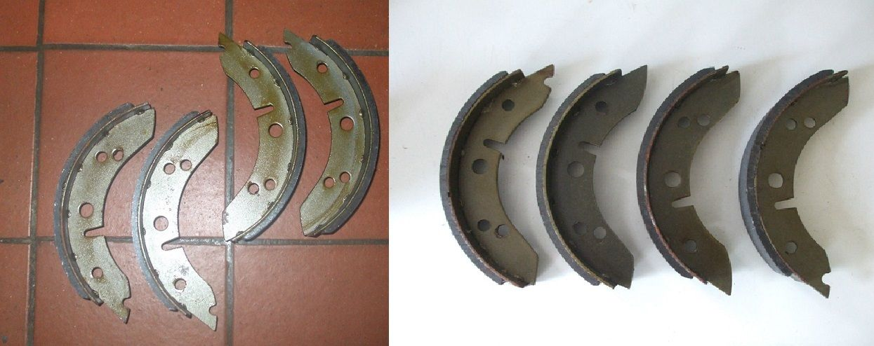 FRONT & REAR BRAKE SHOES SET (Morris Minor) (From 1953- 62 Only)