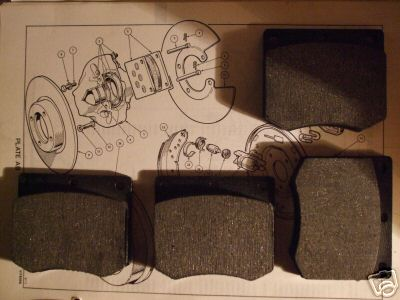 FRONT BRAKE PADS SET (Triumph GT6) (** From Jan 72- 74 **)