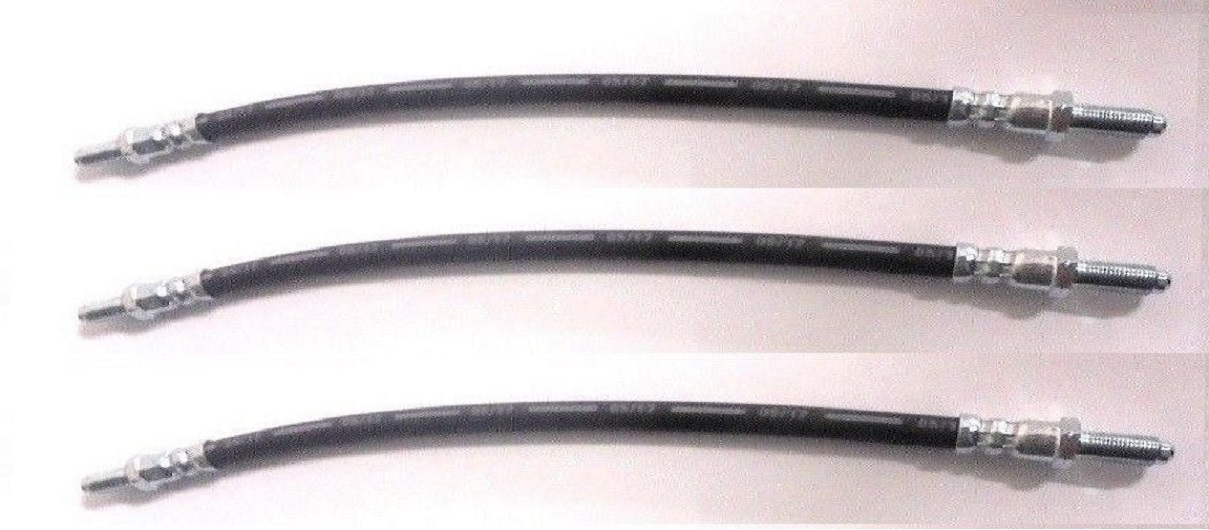 FRONT & REAR BRAKE HOSES x3 (Wolseley 6/110 Mk1) (1961- 64 Only)