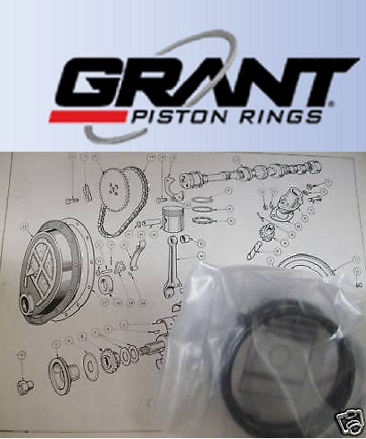 PISTON RINGS SET Std (Morris Oxford) (Ser 2,3,4 & 5) (1500cc) (1954- 61)