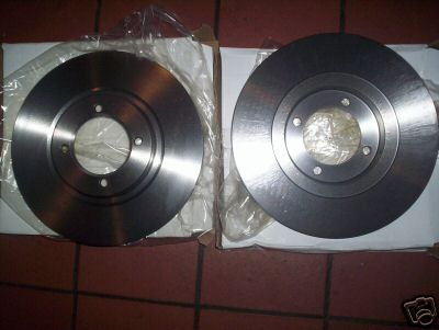 FRONT BRAKE DISCS x2 (Triumph TR3 TR4) (From 1962- 65)