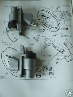 REAR BRAKE WHEEL CYLINDERS x2 (Triumph Dolomite 1500HL, 1850HL, Toledo) (1972-76)