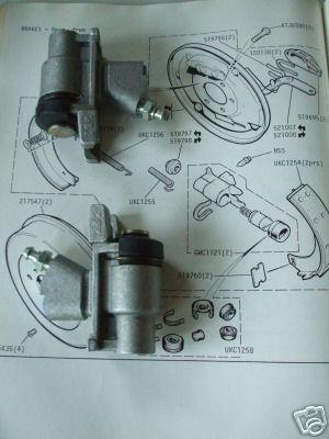 REAR BRAKE WHEEL CYLINDERS x2 (Triumph Dolomite 1500HL, 1850HL, Sprint 2.0)