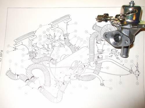 HEATER CONTROL VALVE TAP (Triumph Spitfire Mk3, MkIV & 1500)