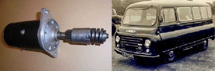 STARTER MOTOR (Austin / Morris J2 Van) (1500 & 1622) ( Petrol) (1956- 67)