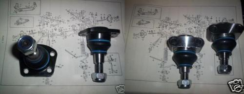TOP & LOWER BALL JOINTS SET x4 (Jaguar MkX & 420g)