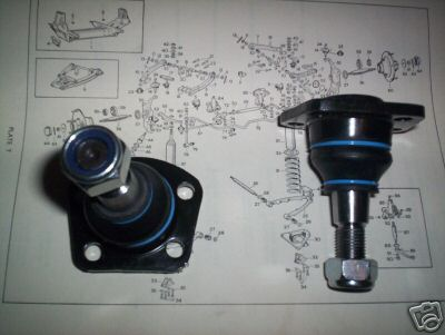 LOWER BALL JOINTS x2 (Jaguar MkX & 420g)