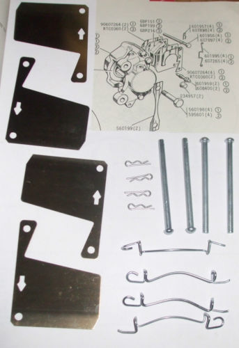 FRONT BRAKE PAD FITTING KIT - PINS & SHIMS (Morris 1800) (Mar 1972- 75)