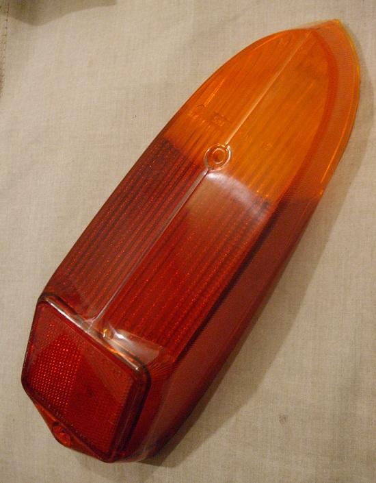 REAR LAMP LENS x1 (MG B) (Oct 1969- 81)
