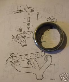 EXHAUST DOWNPIPE GASKETS (MG B) (x2 Required) (1962- 81)