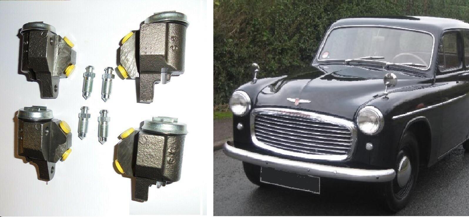 FRONT BRAKE WHEEL CYLINDERS x4 (Hillman Minx) (Mk7 & Mk8)  (1954- 56 Only)
