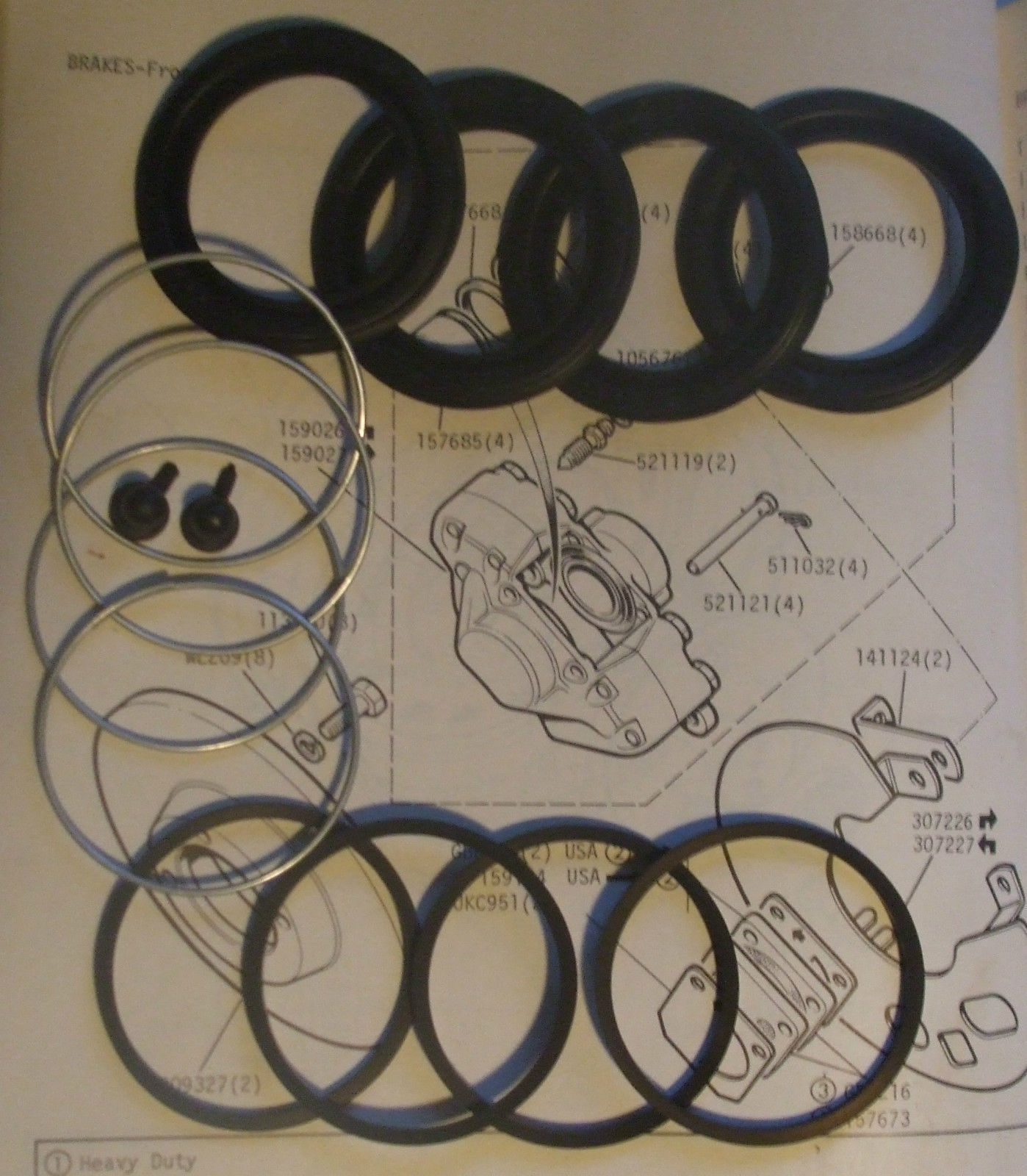 FRONT BRAKE CALIPER REPAIR SEALS KITS x2 (MG C) (1967- 69) (** 16PB **)