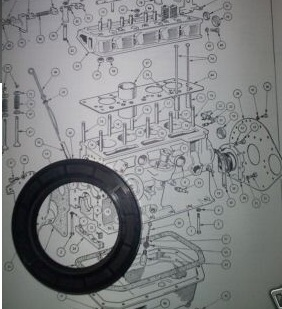 FRONT TIMING COVER ENGINE OIL SEAL (Triumph Mayflower) (1949- 53)