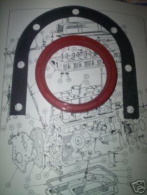 REAR CRANKSHAFT ENGINE OIL SEAL & GASKET (Triumph Vitesse) (1600cc & 2.0 Litre) (From 1965- 71)
