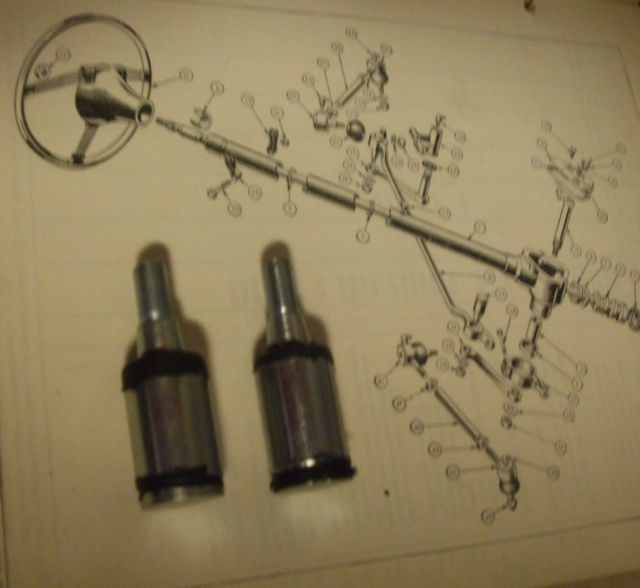 STEERING PIN & BUSH x2 (Triumph TR2 TR3) (1953- 62)