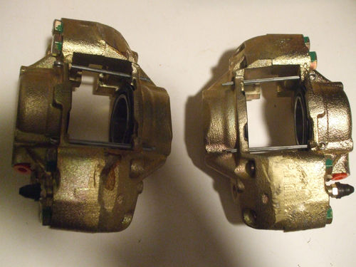 FRONT BRAKE CALIPERS x2 (Standard Ensign De-Luxe) (Jun 62- 63)