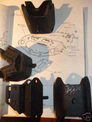 REAR SUBFRAME (CRADLE MOUNTS) x4 (Jaguar 420)