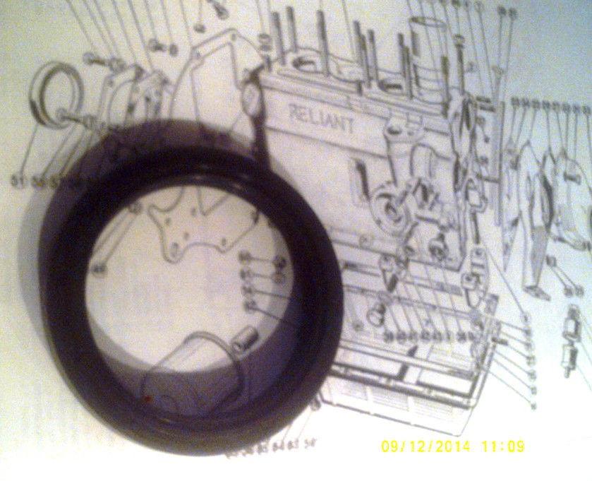 REAR CRANKSHAFT ENGINE OIL SEAL (Bond Bug) (700cc & 750cc) (1970- 74)