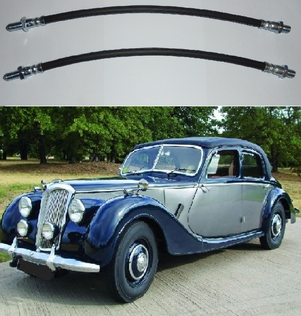 FRONT BRAKE HOSES x2 (Riley RMA 1-1/2 Litre) (1948- 52)