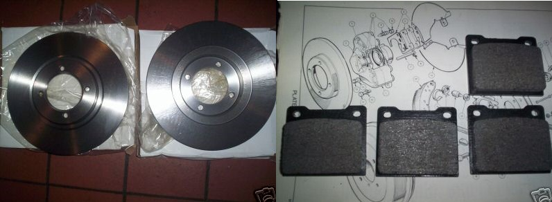 FRONT BRAKE DISCS & PADS (Triumph Spitfire) (From 1967- 81)