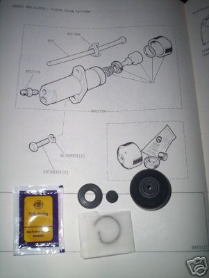CLUTCH SLAVE CYLINDER REPAIR SEALS KIT (MG Magnette Mk3) (1959- 61 Only)