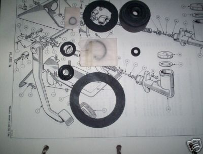 CLUTCH MASTER CYLINDER REPAIR SEALS KIT (Triumph TR6) (** From Jan 70- 76 **)