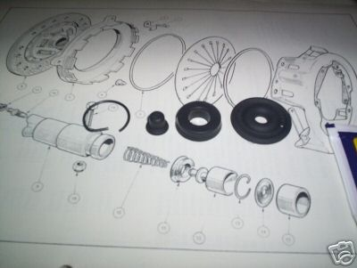 CLUTCH SLAVE CYLINDER REPAIR SEALS KIT (Triumph Toledo) (1300cc & 1500cc) (1970- 76)